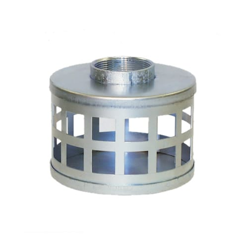 "Apache Hose 1-1/2"" Plated Steel Square Hole Strainer"