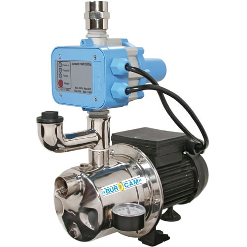 Bur-Cam 16 GPM 3/4 HP Stainless Steel Shallow Well Dual App. Pump (Booster & Tankless Jet Pump)
