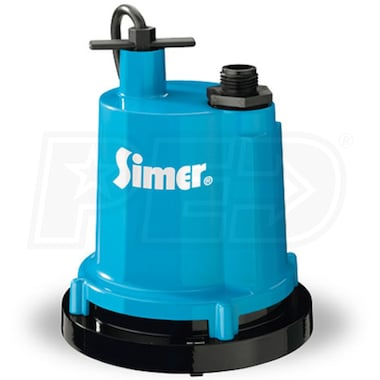 "Simer 2300 -  22 GPM (1-1/4"") Aluminum Submersible Utility Pump"